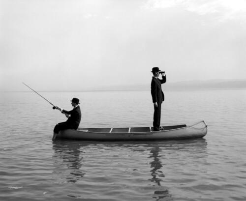 Octubre. «Twins in a canoe», Rodney Smith.