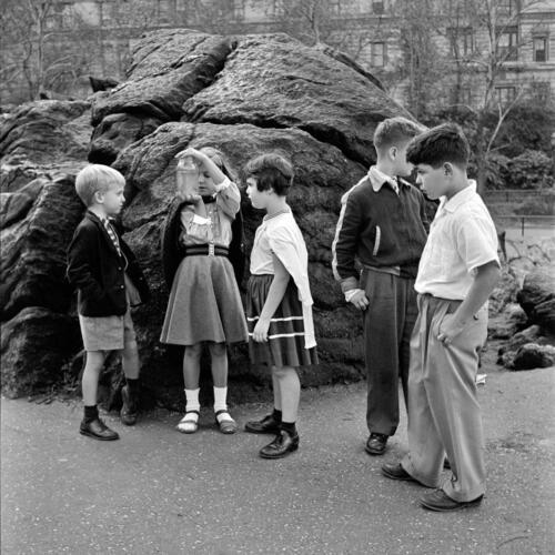 Septiembre. Vivian Maier, «October 10, 1954. New York, NY».