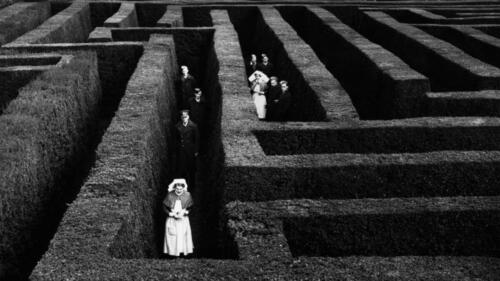 Mayo. Soldiers and nurses lost in the maze at Hatfield House